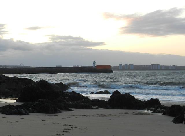 Evening Light, Greyhope Bay, Aberdeen, May 2012