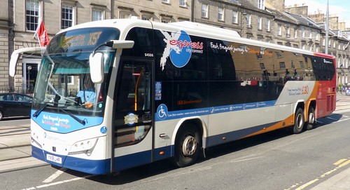 YX18 LHR 'Stagecoach Fife' No. 54506 'express city connect'. Volvo B8RLE / Plaxton Panther LE /1 on Dennis Basford's railsroadsrunways.blogspot.co.uk'