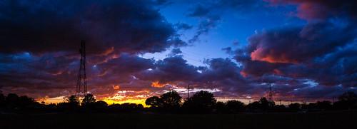 sunset panorama outdoors outside sky clouds glow pentax pentaxk7