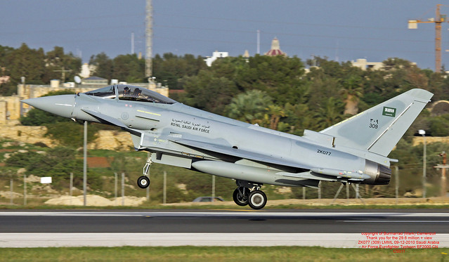 ZK077 (309) LMML 09-12-2010 Saudi Arabia - Air Force Eurofighter Typhoon EF2000 CN CS011