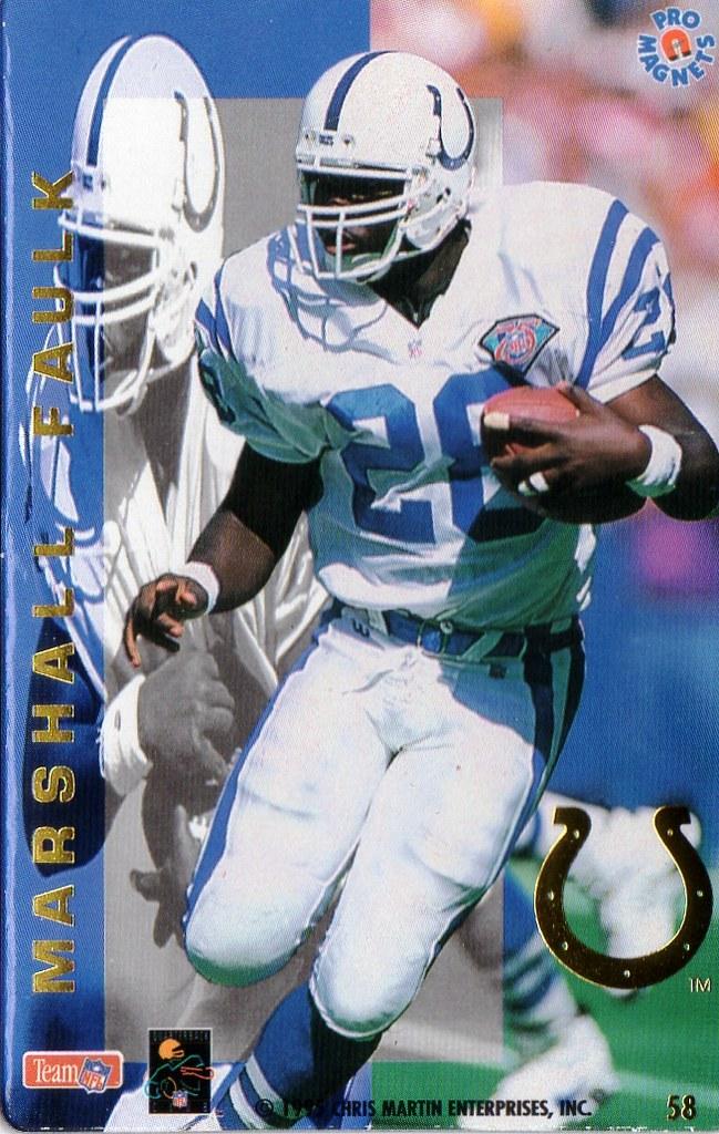 1995 Pro Magnets Football - Faulk, Marshall