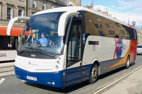 BF63 ZRN 'Stagecoach East Scotland' No. 53731 'express city connect'. Volvo B9R / Caetano Levante on Dennis Basford's railsroadsrunways.blogspot.co.uk'