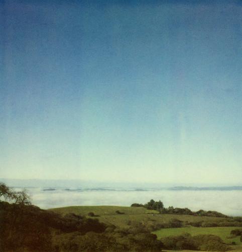 gravityhill fog view sonomamountain sonomacounty film instant polaroid 600 slr680