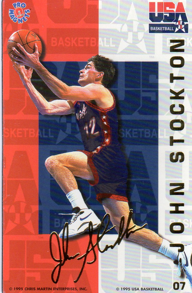 1995 Pro Magnets USA Basketball - Stockton, John