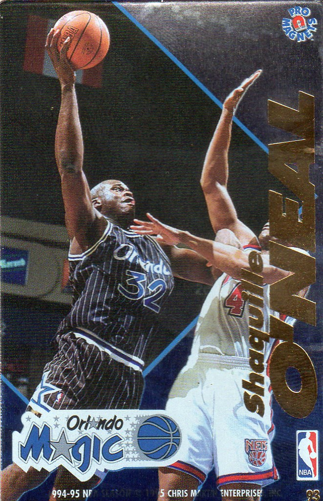 1995 Pro Magnets Basketball - Shaq