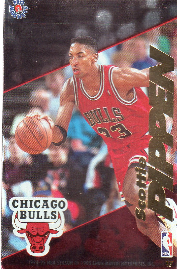 1995 Pro Magnets Basketball - Pippen, Scottie