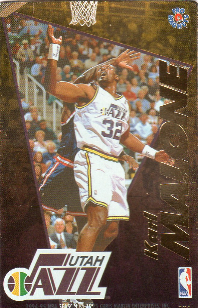 1995 Pro Magnets Basketball - Malone, Karl
