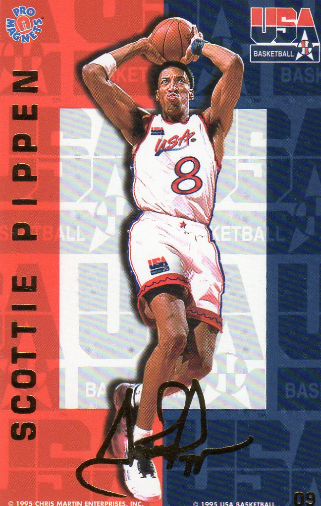 1995 Pro Magnets USA Basketball - Pippen, Scottie
