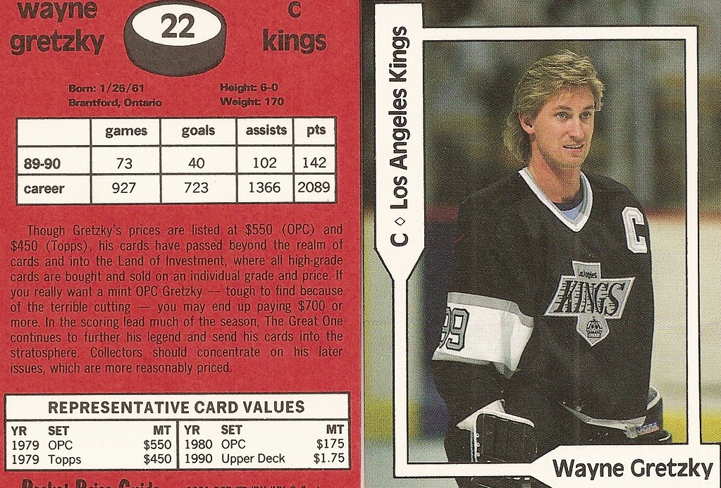 1991 SCD Pocket Price Guide FB-BK-HK - Gretzky, Wayne2