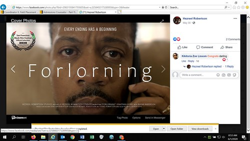Forlorning, a film. Hezreel O. Robertson: #CommunityCollegeBecause ... It Opens Doors!
