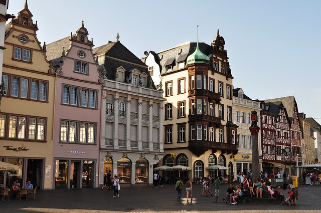 Les maisons deTrèves, Rhénanie-Palatinat, Allemagne.