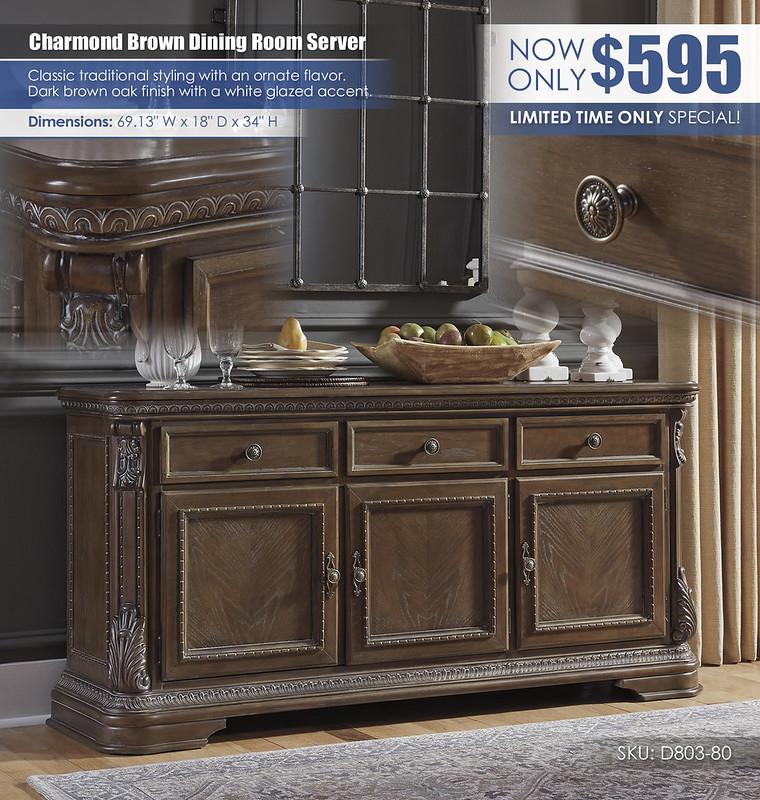 Charmond Brown Dining Server Buffet_D803-80