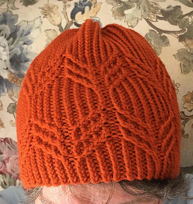 Sandi test knit this Twisted Cables Hat! I like this one!