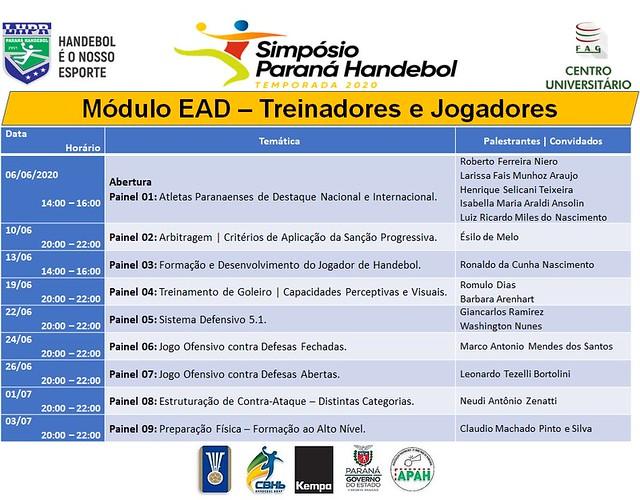 2020 - SIMPÓSIO PARANÁ HANDEBOL - EAD