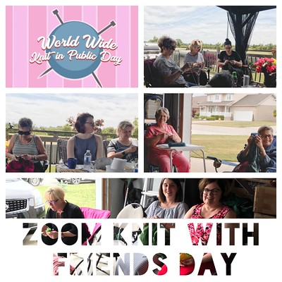 World Wide Knit in Public Day is this Saturday, June 13th! While we can't knit together in person, we are going to hold a Zoom Knit (or make) with Friends Day from 10 to 4pm! Thank you @alpomy for the idea! Zoom at https://sunlife.zoom.us/j/407820804