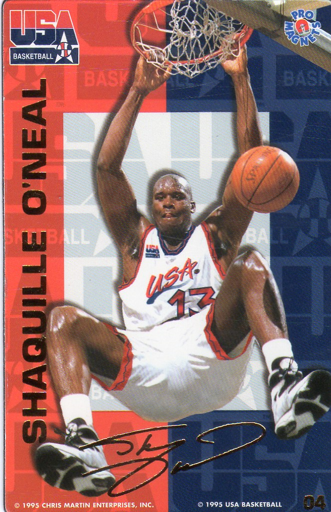 1995 Pro Magnets USA Basketball - Shaq