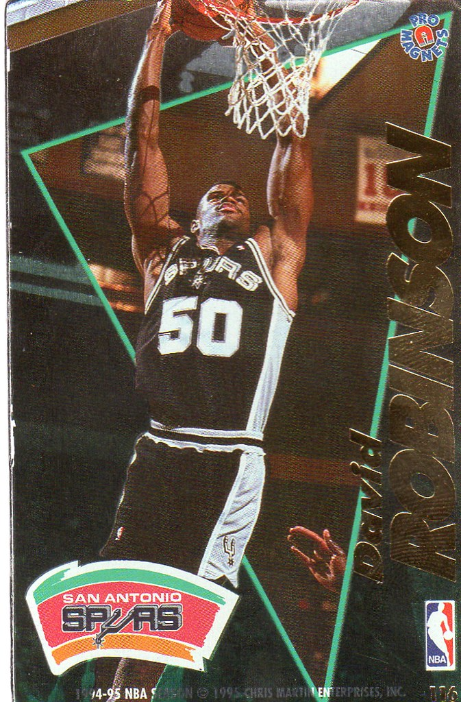 1995 Pro Magnets Basketball - Robinson, David