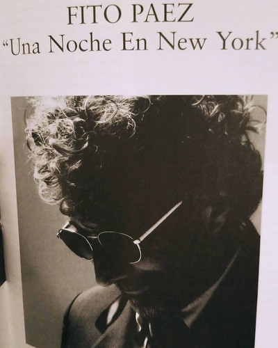 Poster Fito Páez en Nueva York
