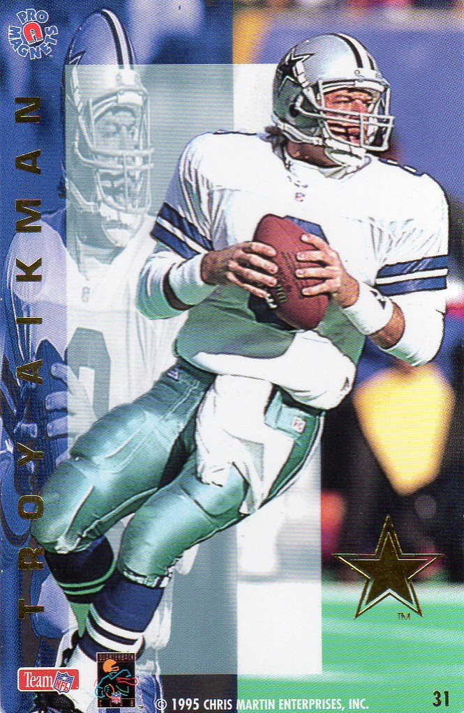 1995 Pro Magnets Football - Aikman, Troy