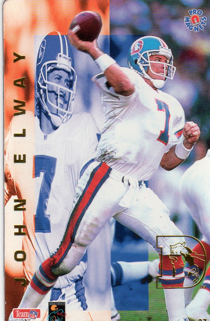 1995 Pro Magnets Football - Elway, John