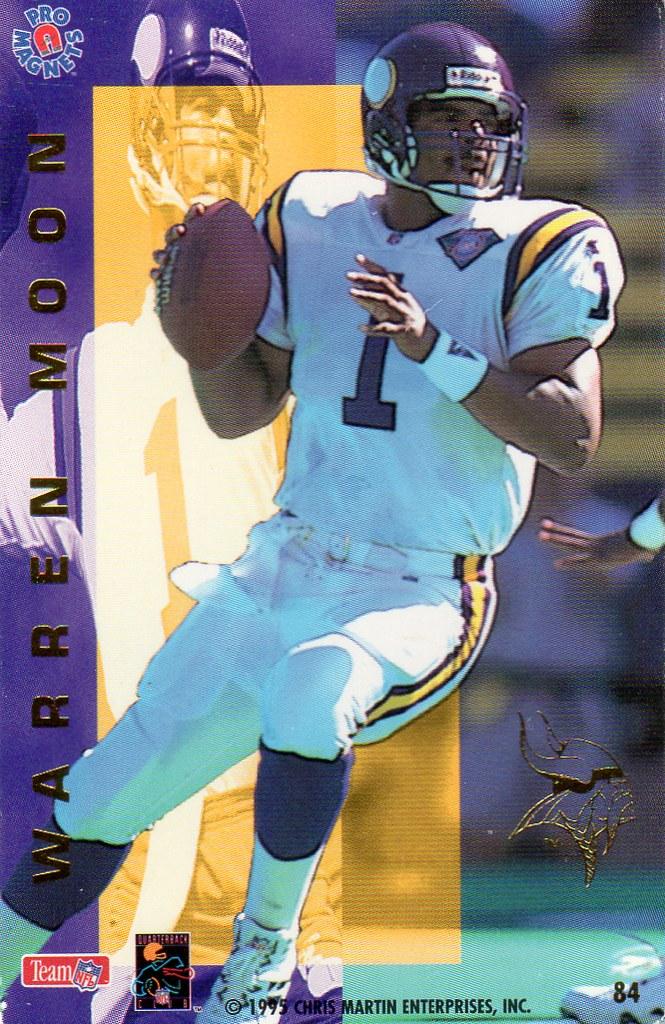 1995 Pro Magnets Football - Moon, Warren