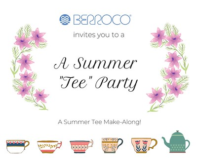 "Berroco is continuing the fun and connection of their Berroco Cardi House Party with their Summer ""Tee"" Party - a knit or crochet a-long dedicated to making summer tees with Berroco yarn!"