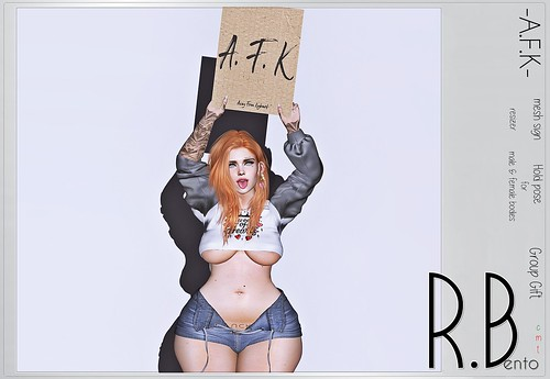 [R.B] AFK mesh sign with pose June's Group Gift