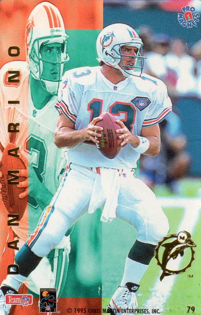 1995 Pro Magnets Football - Marino, Dan