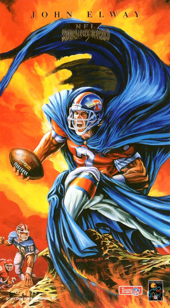 1995 Pro Magnets Football Superhero Jumbo - Elway, John