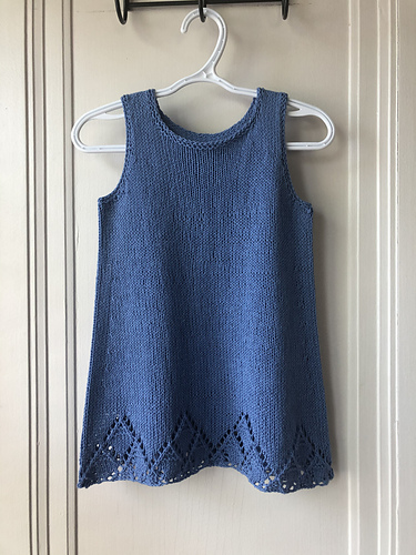 Another gorgeous knit for Lise's granddaughter! This is Flight by Dani Sunshine knit using Hikoo Cobasi.