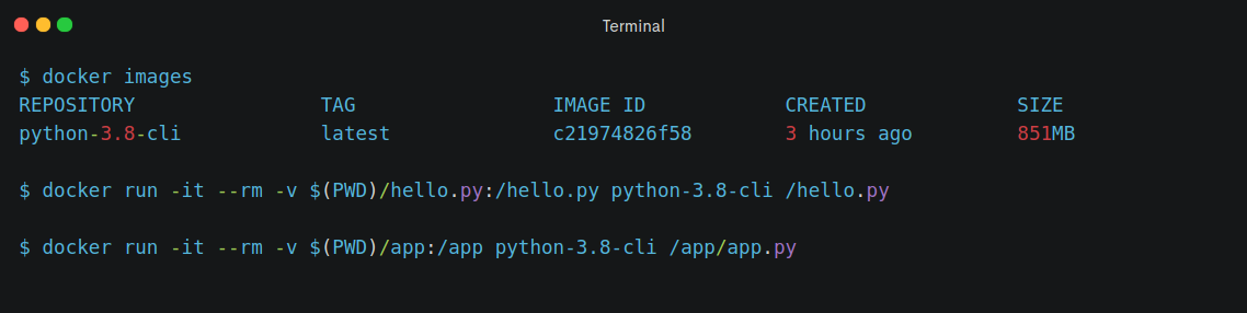 Programming in Container - Python 3.8