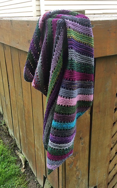 Carrie (CarrieEllis) also knit the Habitation Throw by Helen Stewart finding the project soothing and forgiving!
