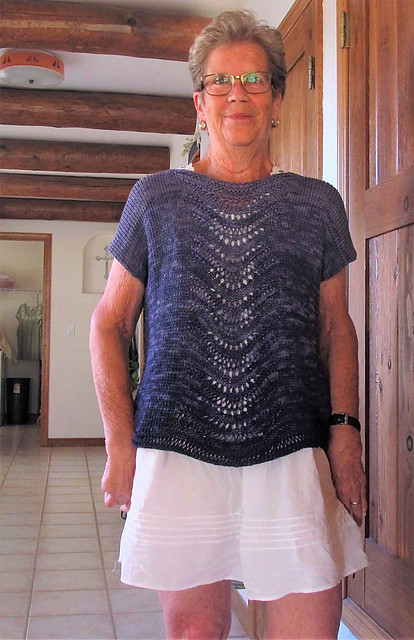 I really want to knit another Deschain by Leila Raven  it using Berroco Estiva instead like jbtraveler did in this one! Looks great without the sleeves too!
