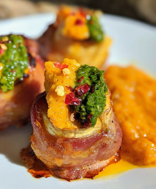 Bacon-wrapped plantains