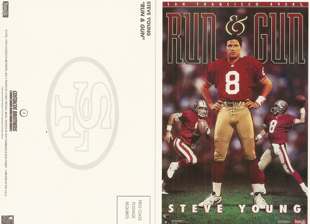 1994 Costaco Bros QB Club Postcard - Young, Steve