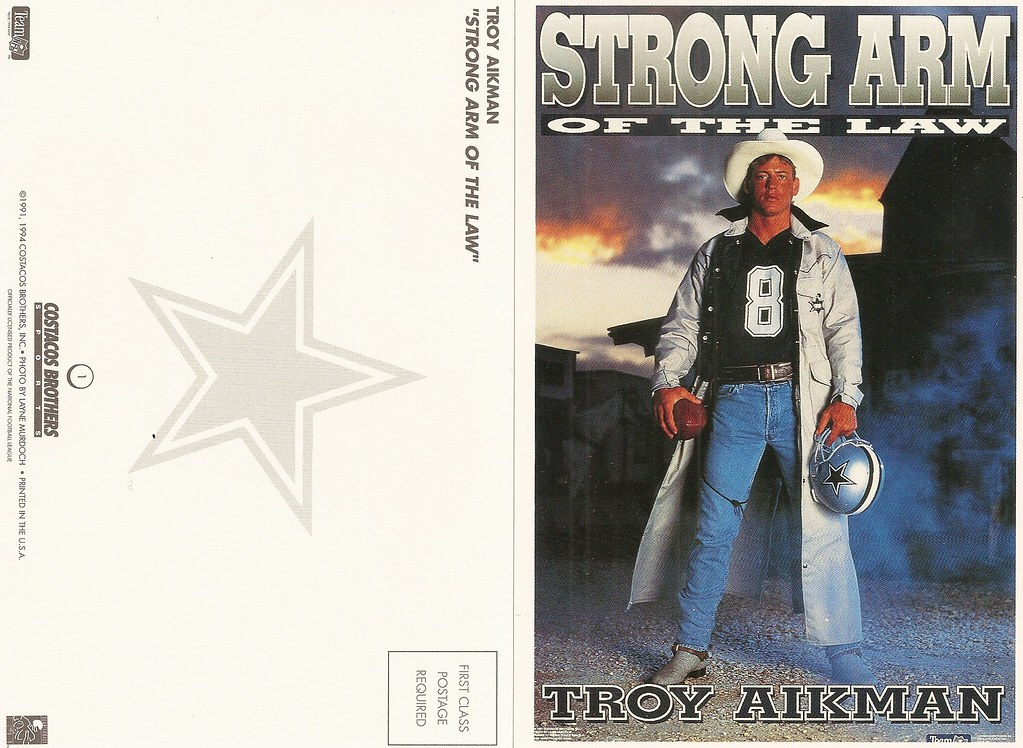 1994 Costaco Bros QB Club Postcard - Aikman, Troy