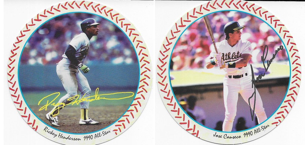 1990 Windwalker Disc - Rickey Henderson and Canseco