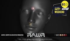 RAWR! Lotus Septum and Stud Piercing HW