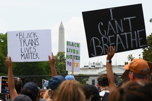 Black Lives Matter Protests 023 - Signs - Washington Monument - White House
