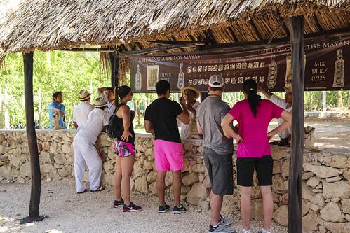 Tourists ordering a drinlk, Chichen Itza, Mexico's Yucatán Peninsula