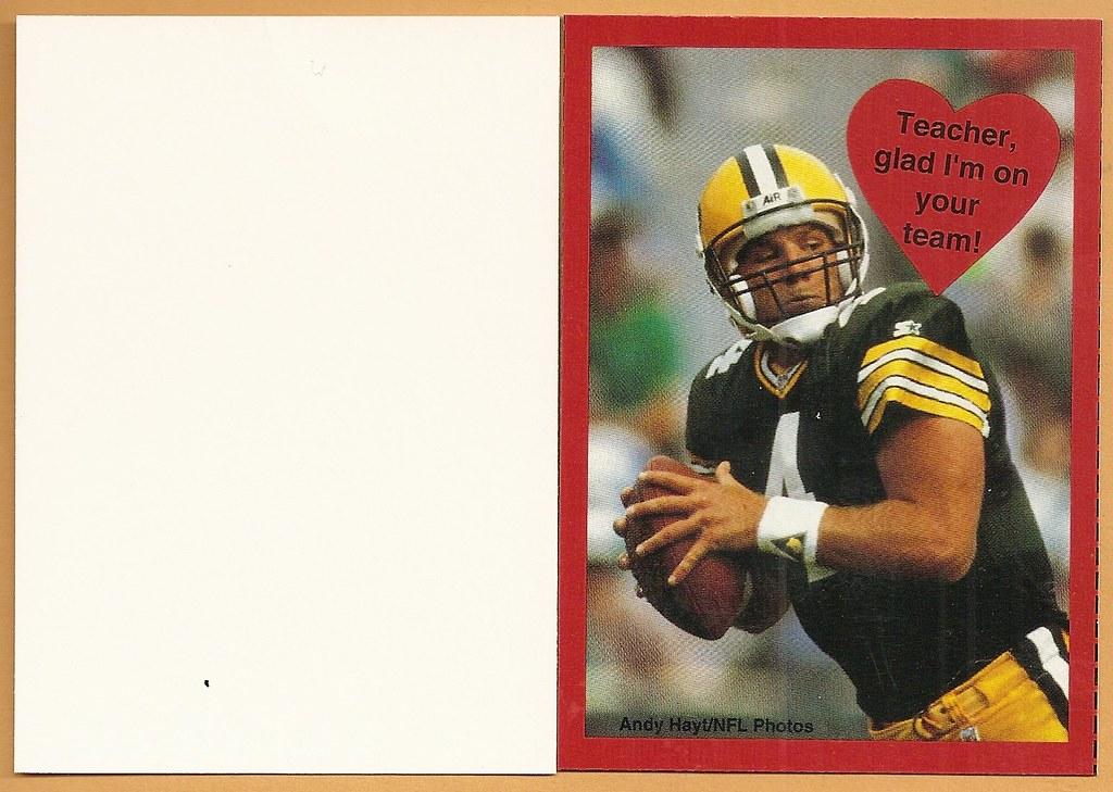 1995 Cleo Valentine Box Card - Favre, Brett
