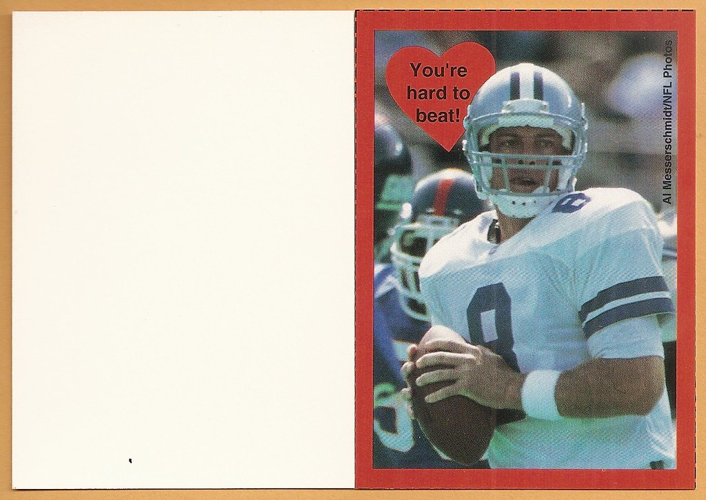 1995 Cleo Valentine Box Card - Aikman, Troy