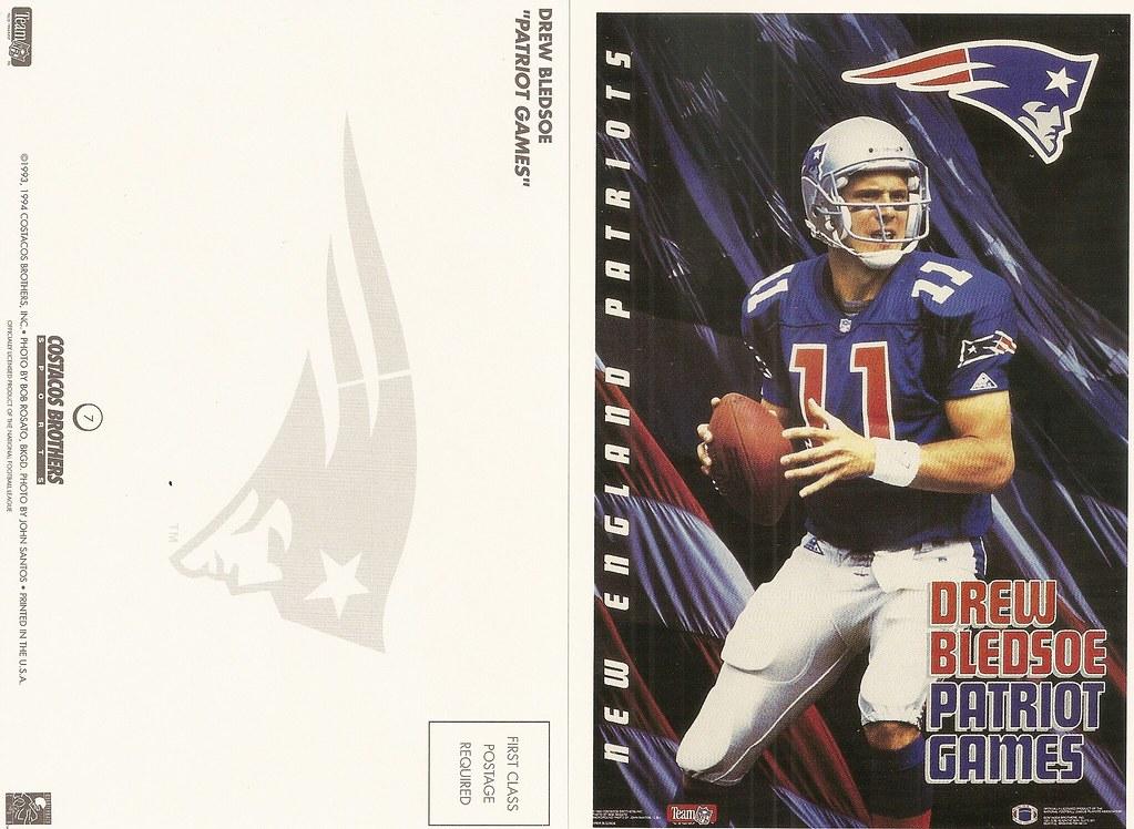 1994 Costaco Bros QB Club Postcard - Bledsoe, Drew