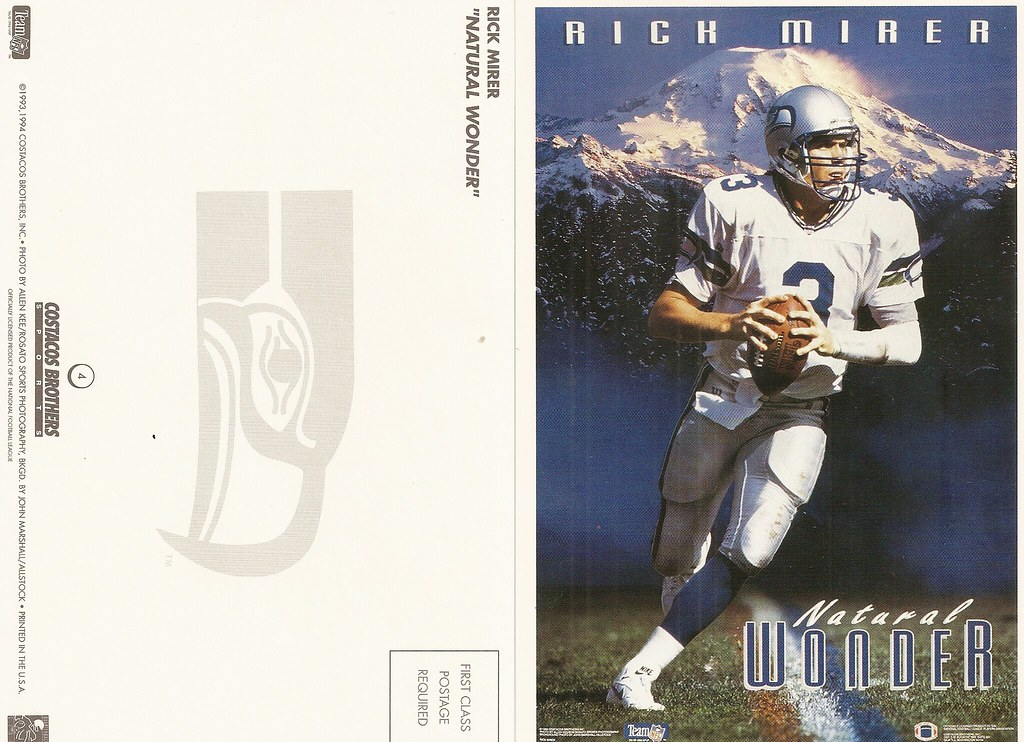 1994 Costaco Bros QB Club Postcard - Mirer, Rick