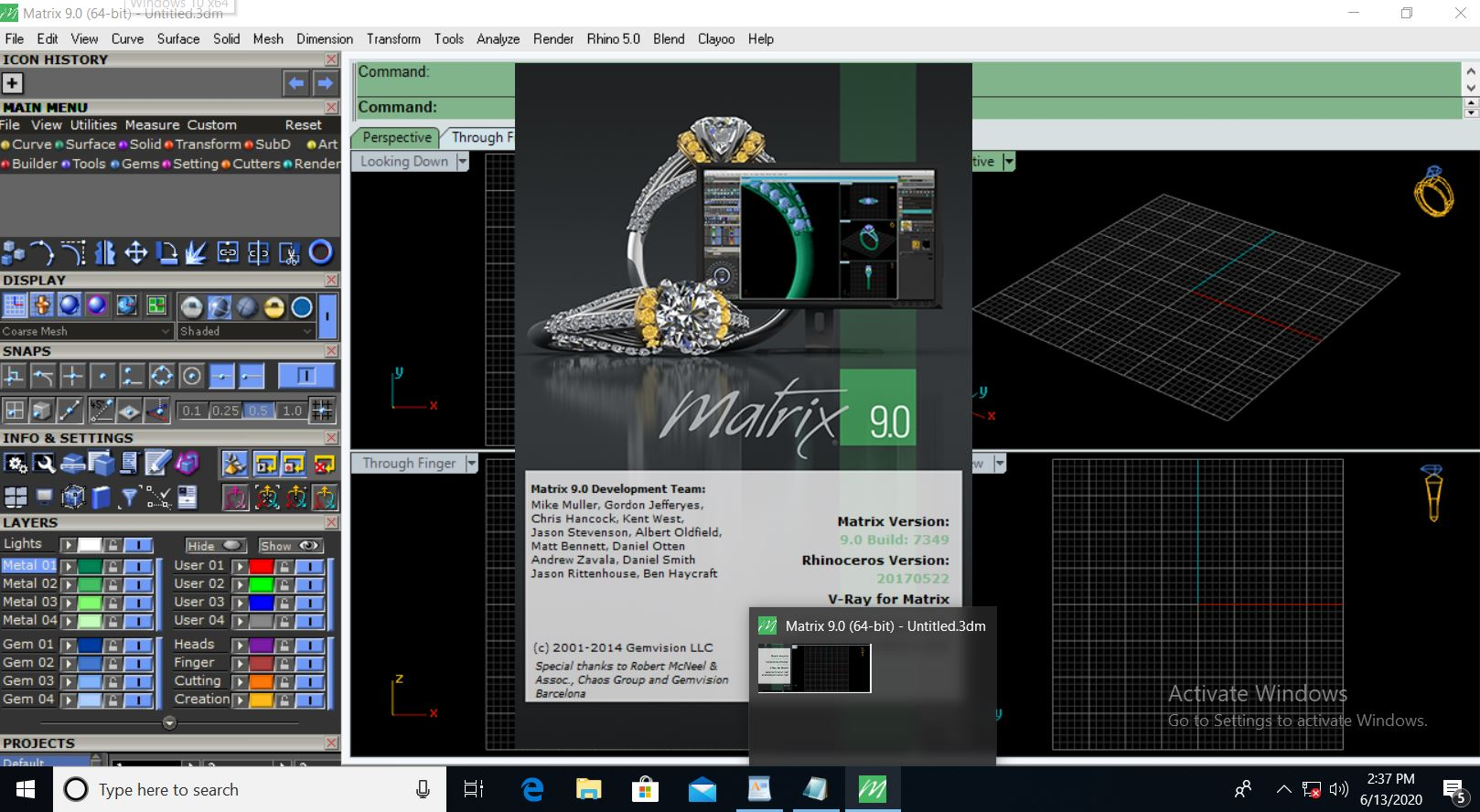 Working with Gemvision Matrix 9.0 build 7349 full license