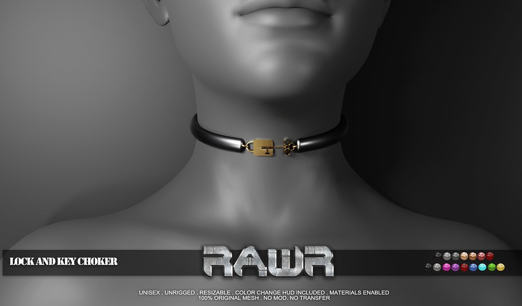 RAWR! Lock and Key Choker PIC