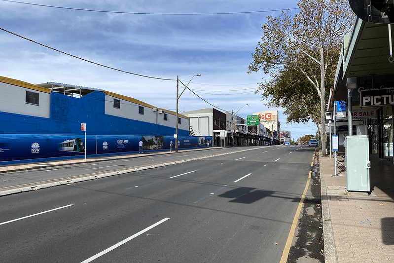 Pacific Highway and Crows Nest Metro construction