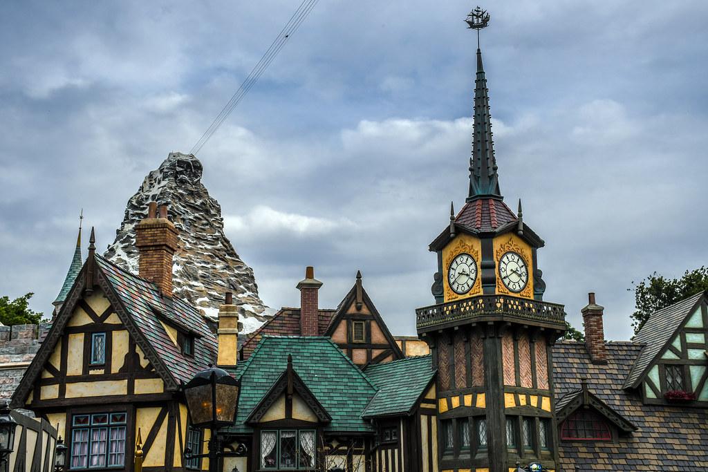Fantasyland rooftops Matterhorn DL