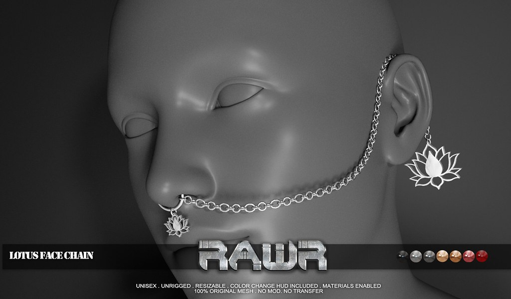 RAWR! Lotus Face Chain PIC
