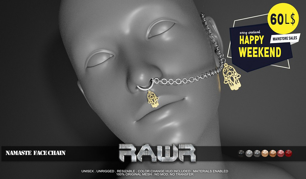 RAWR! Namaste Face Chain HW